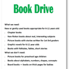 Summer 2017 Book Drive Flyer